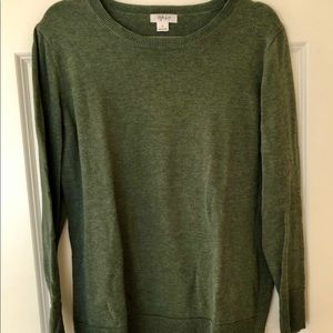 Style & Co green pullover sweater